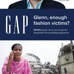 CEO Glenn Murphy @GAP @OldNavy @BananaRepublic - still wont sign the #Bangladesh Fire & Safety Plan? Share ad now https://t.co/tuj2gub2Bg