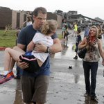 Picture worth 1000 words: Bloodied teachers take children away from destroyed Briarwood Elem. in Moore, OK http://t.co/nezCHtm19P""