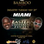Party with & @DJIRIE 2night at @BambooMiami We're kicking off the @MiamiHEAT vs @Pacers series!