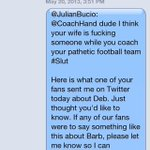 Still crying laughing that a grown ass Vanderbilt football coach texted Butch to tattle about a fan on twitter http://t.co/cQKQJl8iHg