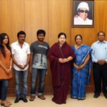 Music dir @gvprakash  met Hon'ble CM with his father,sister Bhavani& Saindhavi's Parents to invite for his marriage
