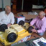 Both the Granpa's working assembling on VIAANS Lamborghini..too cute,ha ha ha