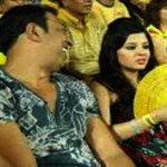#Spot #fixing- Dhoni's wife in stadium with actor Vindoo Dara Singh during a league match of IPL 6.