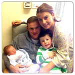 Congrats dude !!! :) RT @WayneRooney: My family with our new baby boy Klay http://t.co/Z2CZDyz0nV