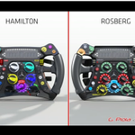#F1 Difference between @LewisHamilton and @NicoRosberg steering wheels via @tgruener (AMuS) & G. Piola: http://t.co/HT8P2jmCOh