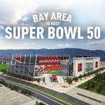 "hooray!! :) ""@49ers: Super Bowl 50 is coming to the Bay Area. #SFSuperBowl http://t.co/6hs8swwWqw"""