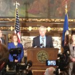 RIGHT NOW: @GovMarkDayton and #mnleg leaders talking about our budget for a #betterMN http://t.co/HiciyIa3rJ