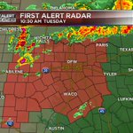 Tornado Watch until 7 pm for all of North Central Texas until 7pm. Storms already firing up out west. DF #dfwwx http://t.co/lMDh2cvsKV