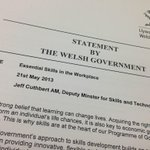 Welsh Skills Minister misspells his job title in statement on skills and literacy #Awkward http://t.co/UEgbfDIiHW