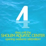 Sholem Opening Countdown: 4 Days to go! $4 Fridays are oh so sweet, and four late night swims - what a treat! http://t.co/6EP9RSNaXY