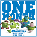 """@DisneyPixar: One month! #MonstersU http://t.co/dlN2cPvM6R"" @danijiru1"