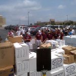The @AggieSoftball team monitoring donations for Moore. #12thMan http://t.co/iJO73UkY9I