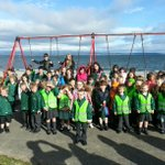 Kids at Ballyholme PS take part in their Healthy Week with a walk to school this morning!!! http://t.co/XLbwCbEWRM
