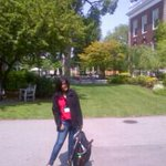 Guess who's that with a school bag! It's @EkmainaurEktu7 at Harvard Univ. in the midst of summer school! Kool eh?