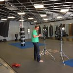 Tom Bear setting up @CenturyMMA #CenturyCreed shoot w @mmacoachwink & Greg @ The New Jacksons Martial Arts Facility! http://t.co/Wi2HzKvMJI