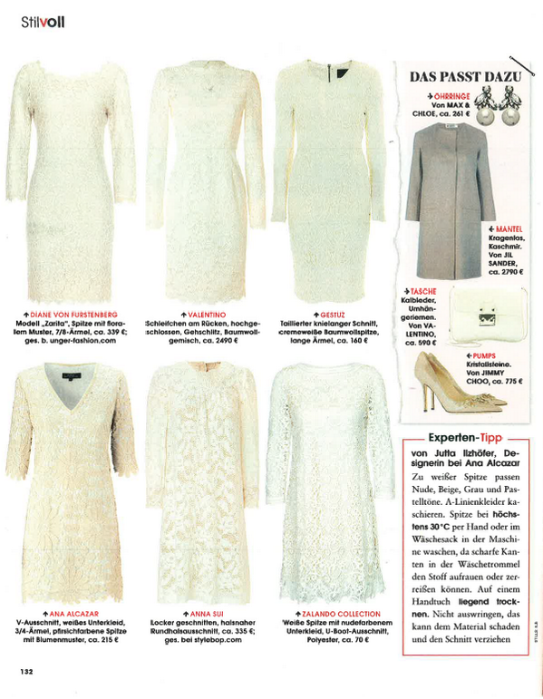 +1 RT @annasui: When it's too hot to wear black, consider the Little White Lace Dress. See @InStyleGermany's picks: http://t.co/1oem41bejB