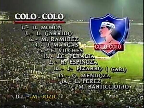RT @FilialRecoleta: El plantel que salió a la cancha esa gloriosa noche del 5 de junio de 1991!  #22AñosDelOrgulloNacional #ColoColo91 http://t.co/QyNcwpt4pu