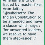 Amendment to be issued by master fixer Arun Jaitley