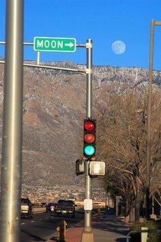 Perfectly Timed Moon Photo from Albuquerque, NM http://t.co/41TVjFL1zC