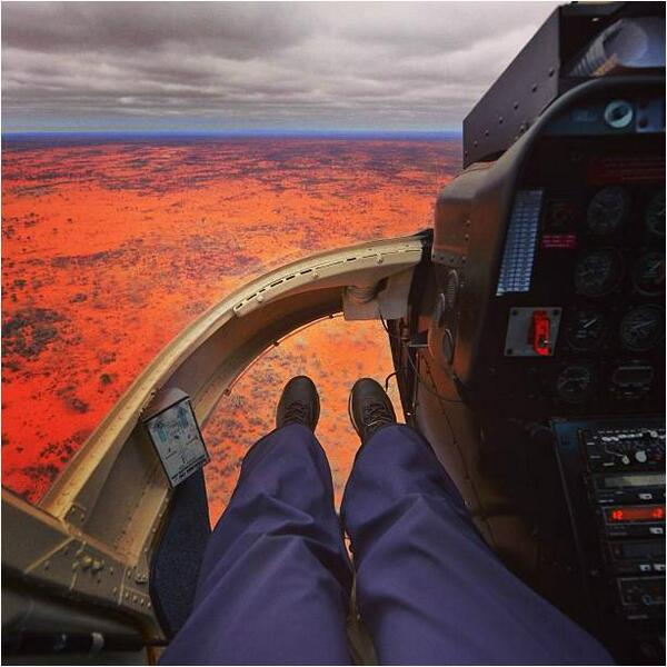 Birds-eye view of the NT #outback shot by @laurenepbath from a #helicopter! http://t.co/IkmeNsyqaR