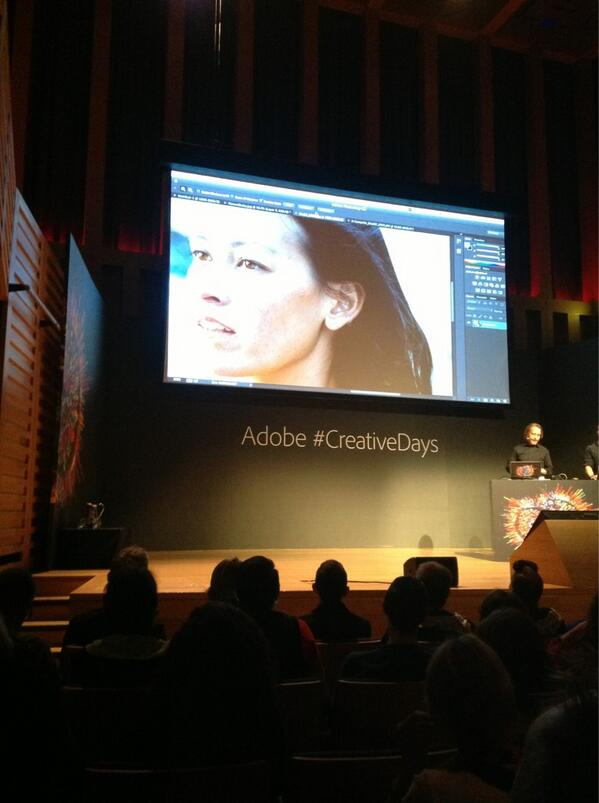 RT @AdobeUK: .@rufusd demonstrating how new Shake Reduction feature in #Photoshop CC can 'save your bacon' #CreativeDays http://t.co/WKvU89R7hf