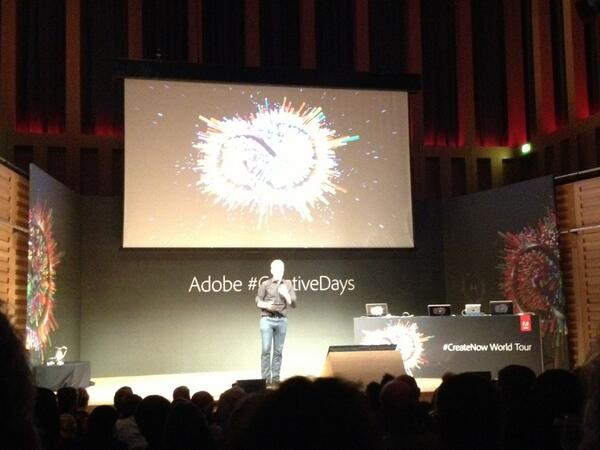 Incredible CC features on display in London at @AdobeUK #CreativeDays http://t.co/mhZ8pJcKuT