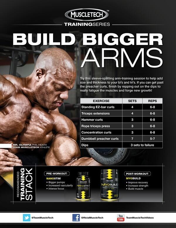 #ArmDay Part 1 from @TeamMuscleTech http://t.co/S5mpyussAe