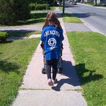 Awesome!! RT @EmmaRN2002: Bri walking home from school rocking her @jparencibia9 shirt http://t.co/RNfpFNHdzv