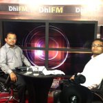 At Dhifm 1to1. Watch & listen at 10:30am today. A repeat at 12:30pm Saturday. http://t.co/lHCKA5GRRy