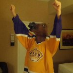 Frak yes @LAKings!! #TeamHorseMask was with you, all the way from Arizona.
