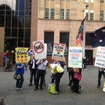 Idiots @missjdietrich: Anti Muslim protest at Martin Place in reaction to recent extremist attackon a British soldier http://t.co/8l4h0kJfbX