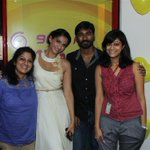 The girls went gaga & the boys went WOW! @sonamakapoor & @dhanushkraja at the Mirchi studio's --@RjSangeeta & @indu_r http://t.co/G7f7rJsz8j