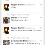 "RT @juknowmama: ""@Angelosoooo: Lol this aint looking good for Sunny, Anthony RT this! http://t.co/nVRxn2Sq6V"" RIP sunny. Lol"