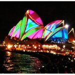 Looking good Sydney! Vivid Festival @SydOperaHouse... http://t.co/H8hPHiqqAK""