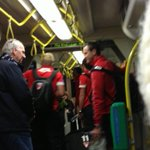 @timwardrop RT @Neroli_M_FOX classic! @sydneyswans on way to game. #bustroubles #tramtime #AFLPiesSwans  @FOXFOOTY http://t.co/4b8FY219tU