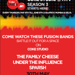 RT @influenceduo: Come watch us battle it out at @theblueFROG for @cokestudioatmtv on the 30th!