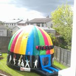 Next door neighbours bouncy castle.... Its literally a session castle. Definetley getting one for my 17th http://t.co/H0RrsGaDX6
