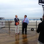 RT @GovChristie: Talking with @MLauer before our walk down the boardwalk in Seaside #STTS #TODAYatJerseyShore