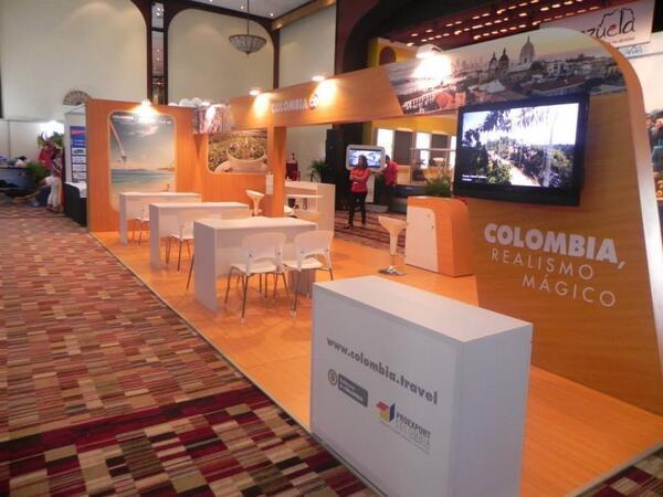Colombia, Realismo Mágico:  Stand en la XXIII Feria de Turismo AVAVIT 2013, Hotel Tamanaco, Caracas #ExpoAvavit http://t.co/TpksxzLMTg