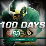 Its a GREAT day to be a Ram! Officially 100 days until @CSUFootball kicks off the 2013 season v. CU #CSURams http://t.co/H2sR2CIORu