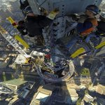 Working above 1,700 feet in the air! Ironworkers install final sections on top of One WTC on Friday, May 10. http://t.co/cubFhH0yOI