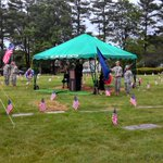 Rolling Green Cemetery in Camp Hill honoring fallen soldiers w Memorial Day service. 4800 flags on graves http://t.co/6z8UTNgrOB