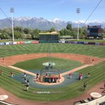 Love my hometown. But go Ducks! RT @OregonBaseball: View from press box in #SLC before tonights Oregon-Utah game. http://t.co/kPBIBmjop3
