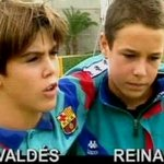 RT @INDOBARCELONA: FOTO: Young Victor Valdes with Pepe Reina. #BarcaPic http://t.co/kBVRjj8gKc
