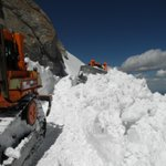 Whoa..... RT @ColoradoDOT Crews had a challenging time clearing the snow for todays opening of Mt Evans. http://t.co/6BWJmPypVW