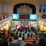 Praising God together lead by Praise with Africa choir from Zambia. http://t.co/ERChiJAU0L
