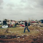 Teammate and 2x Olympian David Banks, removing debris in Moore, Oklahoma. Photo credit to @jeremyivey. http://t.co/oNrbivBRd1