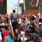 Jacoby taking it to the crowd at Rocklahoma! Hey Papa Roach, YOU ROCK! http://t.co/rzXnKAeg0i