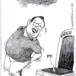 This cartoon published in the daily times just says everything about #MQM leader Altaf Hussain and #PTI #Karachi http://t.co/33XTK6V875