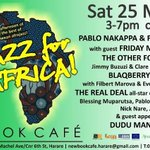 MUSIC | Today, 3-7pm. Jazz For Africa: A great afternoon of some of the best of Zimbabwean afrojazz. Cc $5 http://t.co/lkwsxGVqZJ